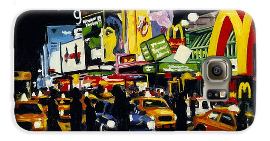 New York Galaxy S6 Case featuring the painting Nyc II The Temple Of M by Robert Reeves