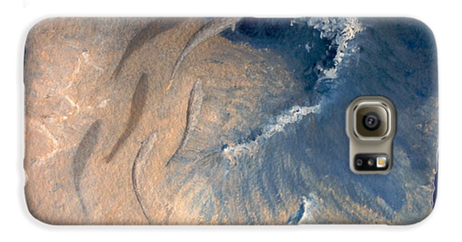 Seascape Galaxy S6 Case featuring the painting Ocean by Steve Karol