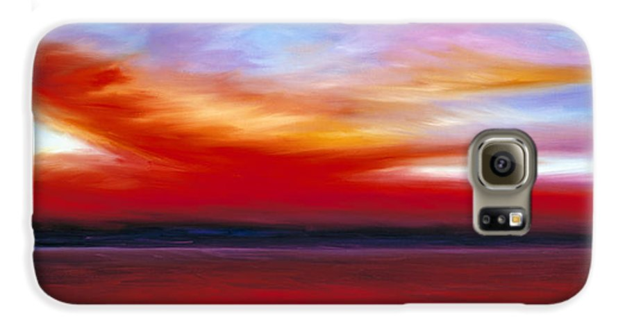 Clouds Galaxy S6 Case featuring the painting October Sky by James Christopher Hill