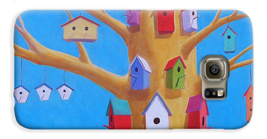 Bird House Galaxy S6 Case featuring the painting Off Season 4 by Scott Gordon