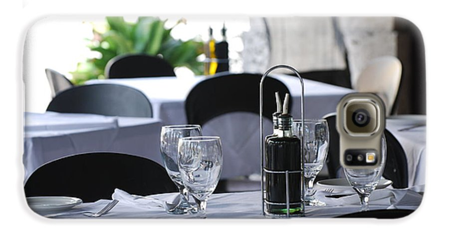 Tables Galaxy S6 Case featuring the photograph Oils And Glass At Dinner by Rob Hans