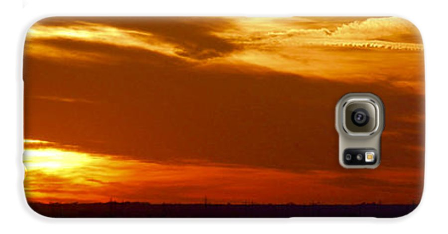 Landscape Galaxy S6 Case featuring the photograph Oklahoma Sunset by Larry Keahey