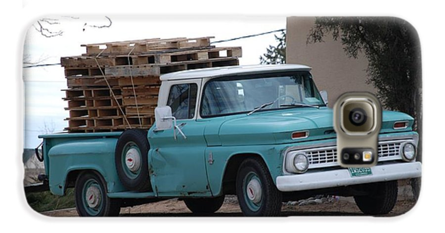Old Truck Galaxy S6 Case featuring the photograph Old Chevy by Rob Hans