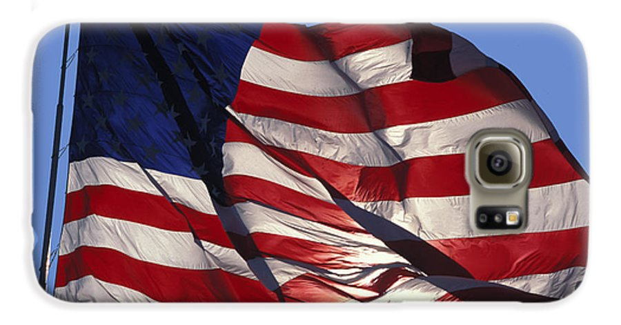 American Galaxy S6 Case featuring the photograph Old Glory by Carl Purcell