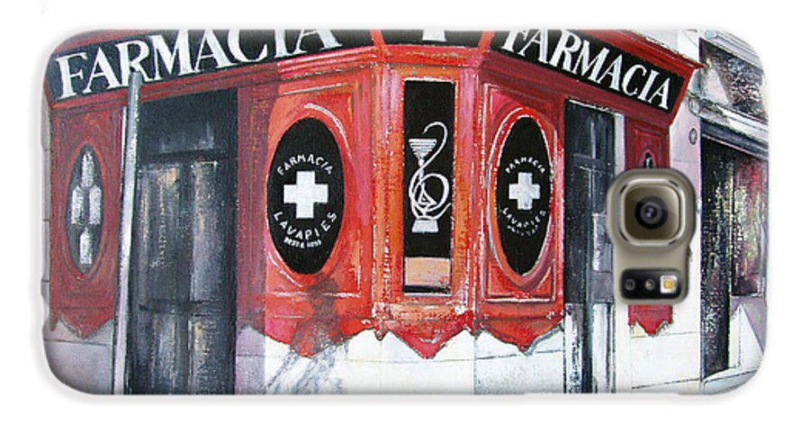 Pharmacy Galaxy S6 Case featuring the painting Old Pharmacy by Tomas Castano