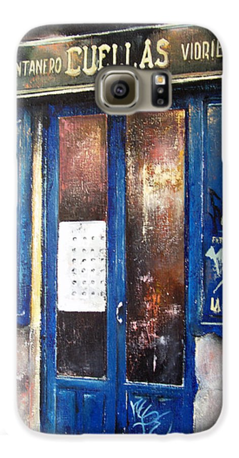 Old Galaxy S6 Case featuring the painting Old Plumbing-madrid by Tomas Castano
