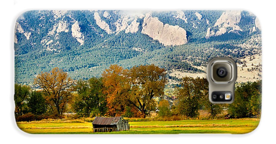 Rural Galaxy S6 Case featuring the photograph Old Shed by Marilyn Hunt