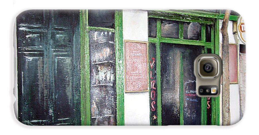 Bodegas Galaxy S6 Case featuring the painting Old Tavern-madrid by Tomas Castano