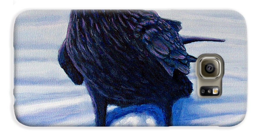 Raven Galaxy S6 Case featuring the painting On Canyon Road by Brian Commerford