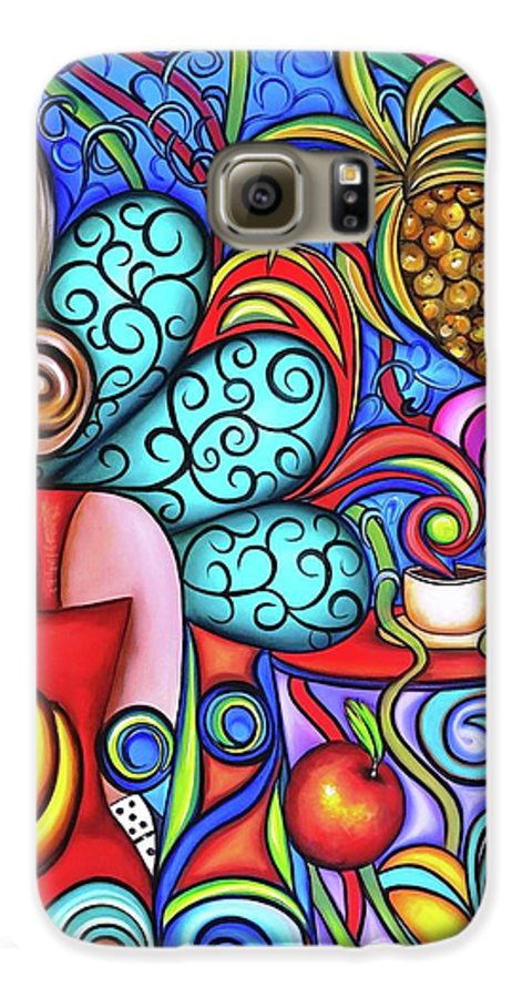 Cuba Galaxy S6 Case featuring the painting On My Mind by Annie Maxwell
