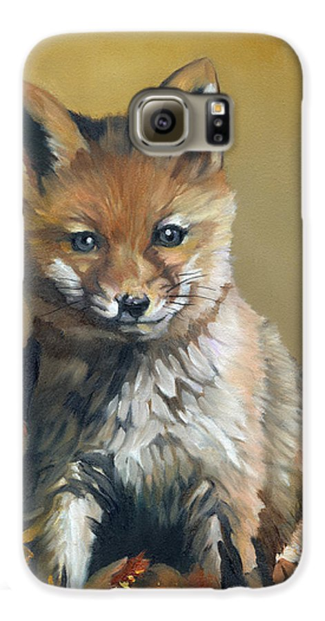 Fox Galaxy S6 Case featuring the painting Once Upon A Time by J W Baker