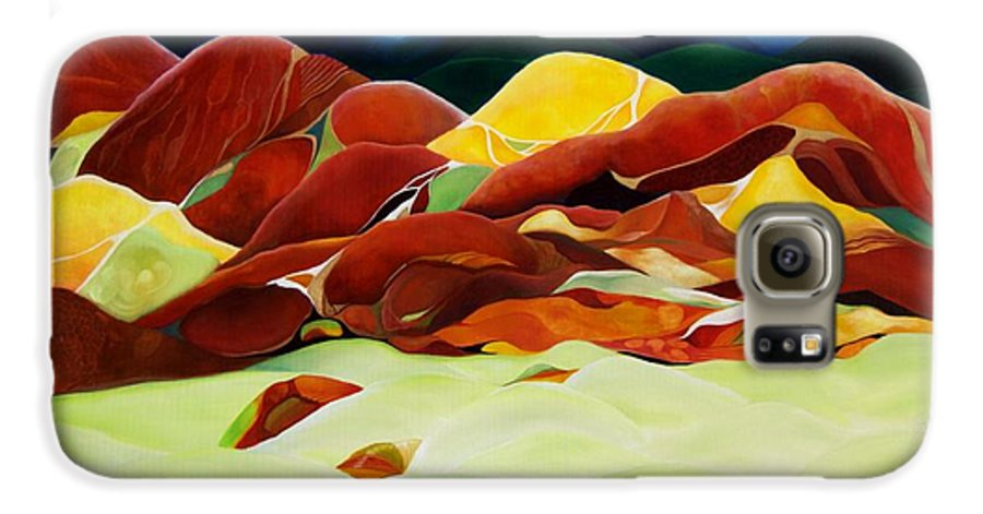 Oil Galaxy S6 Case featuring the painting One Step Up From Third by Peggy Guichu