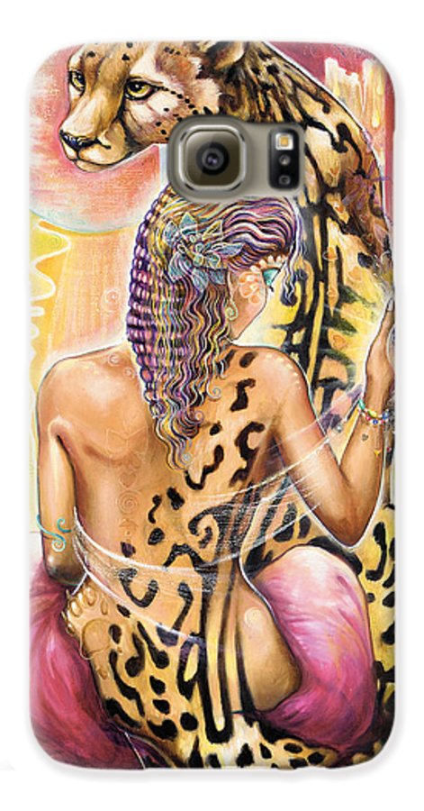 Animals Galaxy S6 Case featuring the painting Oneness by Blaze Warrender
