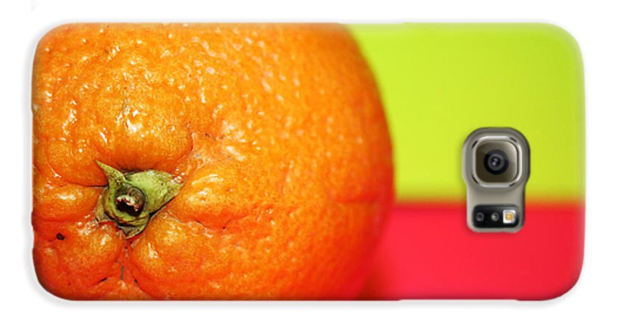 Oranges Galaxy S6 Case featuring the photograph Orange by Linda Sannuti