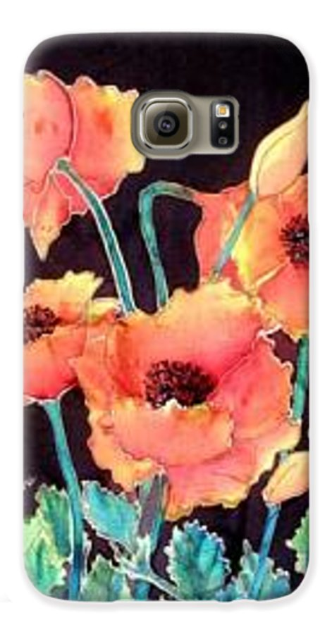 Poppies Galaxy S6 Case featuring the painting Orange Poppies by Francine Dufour Jones