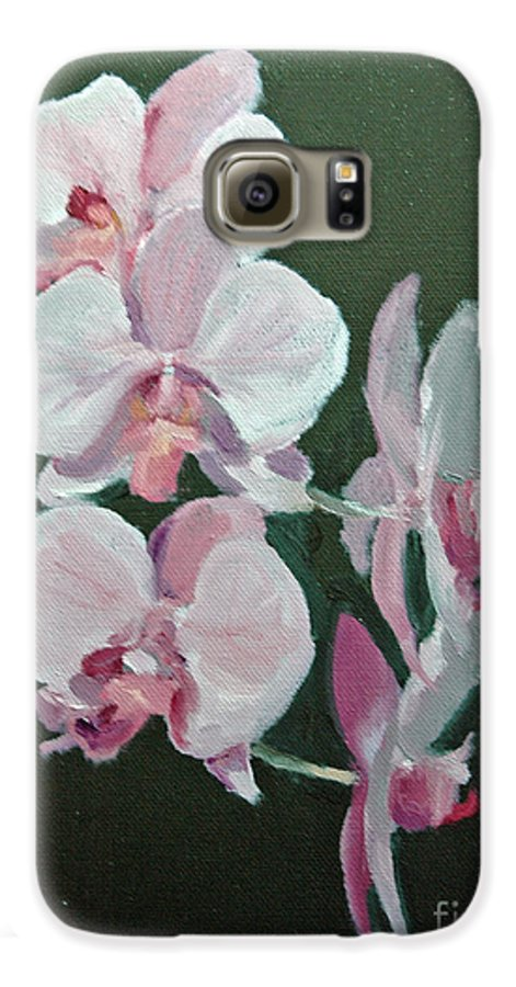 Floral Galaxy S6 Case featuring the painting Orchids For Didi by Glenn Secrest