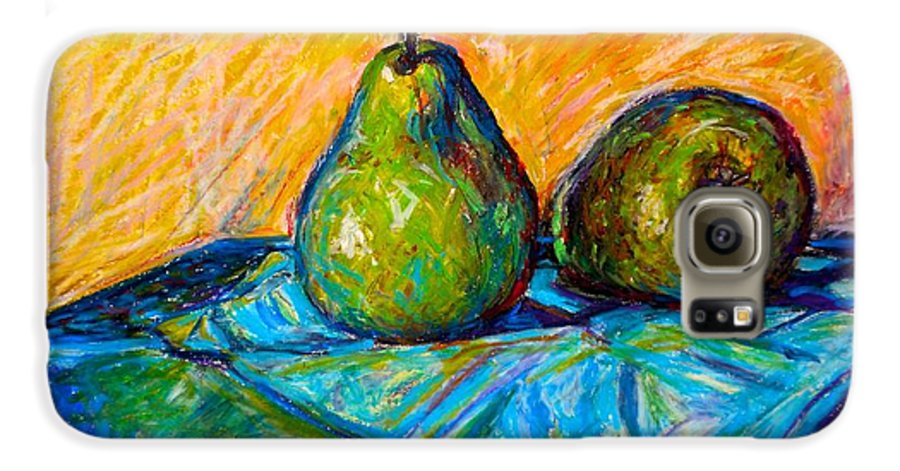 Still Life Galaxy S6 Case featuring the painting Other Pears by Kendall Kessler