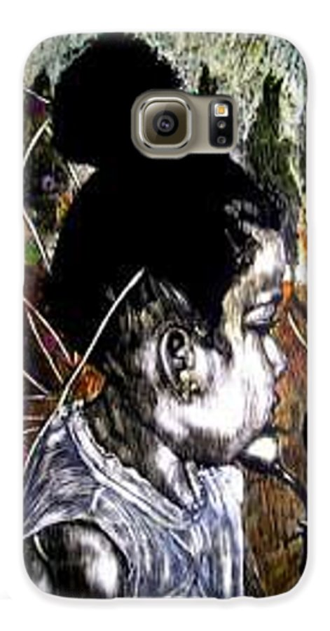 Fantasy Galaxy S6 Case featuring the mixed media Our Farie Princess by Chester Elmore