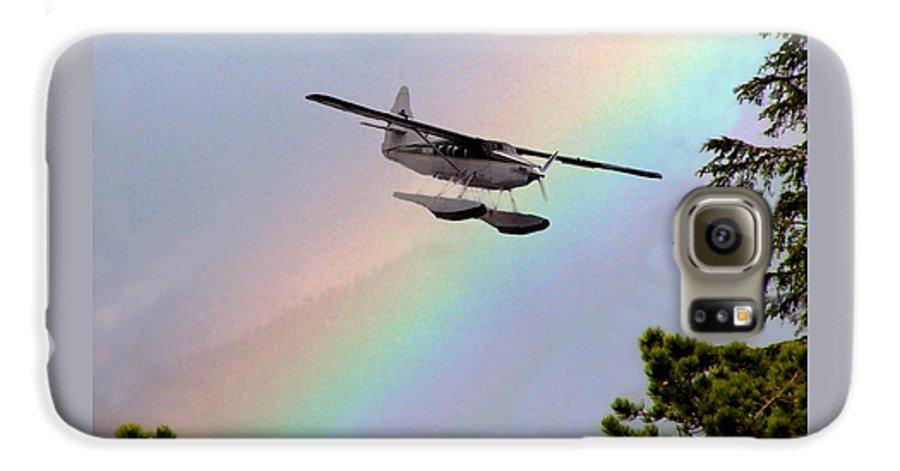 Rainbow Galaxy S6 Case featuring the digital art Over The Rainbow by Kenna Westerman