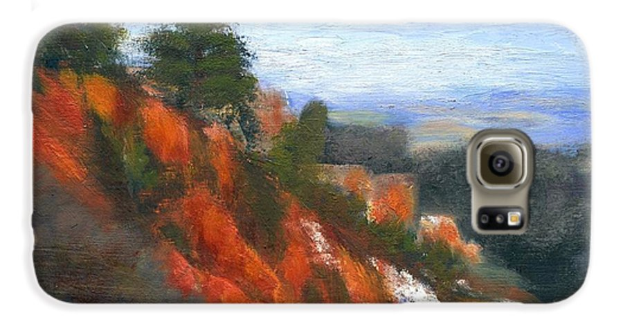 Southwest Galaxy S6 Case featuring the painting Overlook by Gail Kirtz