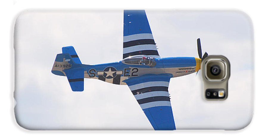 P 51 Galaxy S6 Case featuring the photograph P-51 Mustang American Rose by Larry Keahey