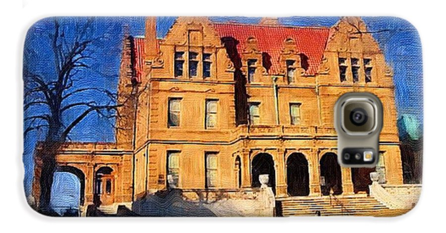 Architecture Galaxy S6 Case featuring the digital art Pabst Mansion by Anita Burgermeister