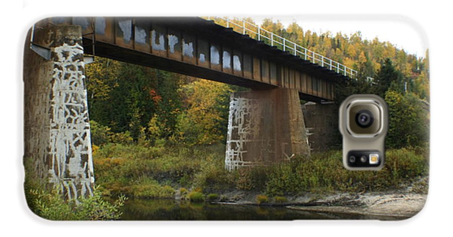 Bridge Galaxy S6 Case featuring the photograph Pack River Bridge by Idaho Scenic Images Linda Lantzy