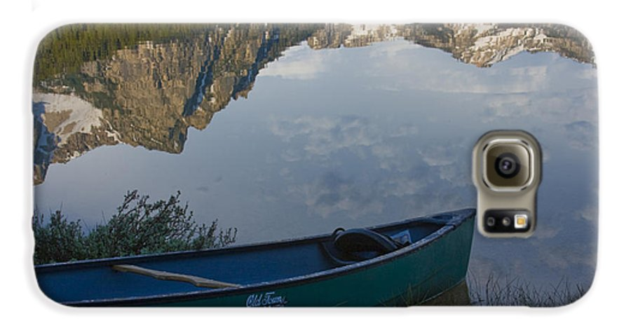Canoe Galaxy S6 Case featuring the photograph Paddle To The Mountains by Idaho Scenic Images Linda Lantzy
