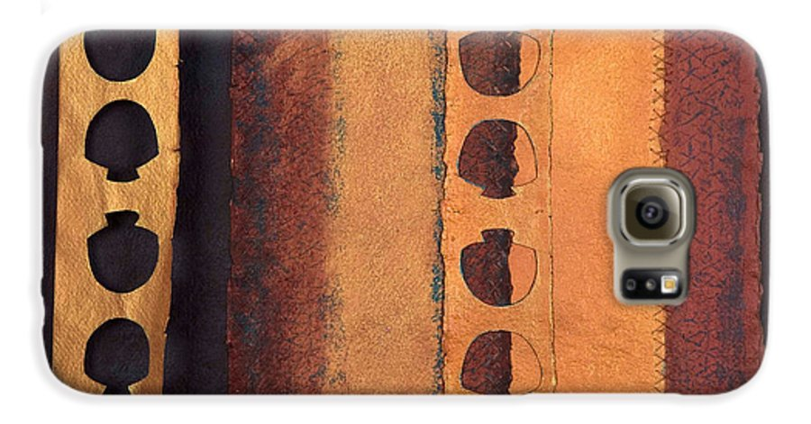 Pageformat Galaxy S6 Case featuring the mixed media Page Format No 3 Tansitional Series  by Kerryn Madsen-Pietsch