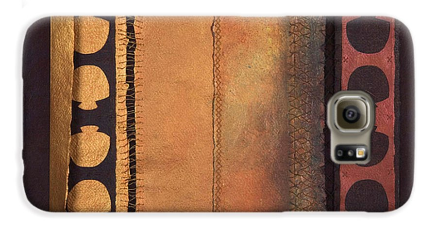 Artistbook Galaxy S6 Case featuring the painting Page Format No.4 Tansitional Series by Kerryn Madsen-Pietsch
