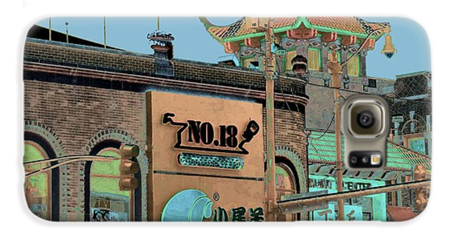 China Town Galaxy S6 Case featuring the photograph Pagoda Tower Chinatown Chicago by Marianne Dow
