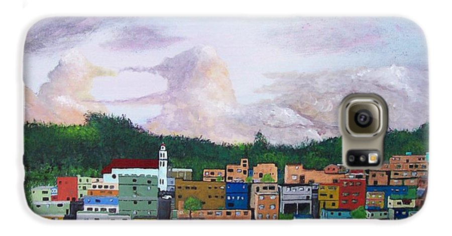 Painting The Town Galaxy S6 Case featuring the painting Painting The Town by Tony Rodriguez