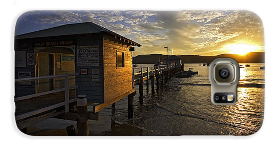 Palm Beach Sydney Australia Sunset Water Pittwater Galaxy S6 Case featuring the photograph Palm Beach Sunset by Sheila Smart Fine Art Photography