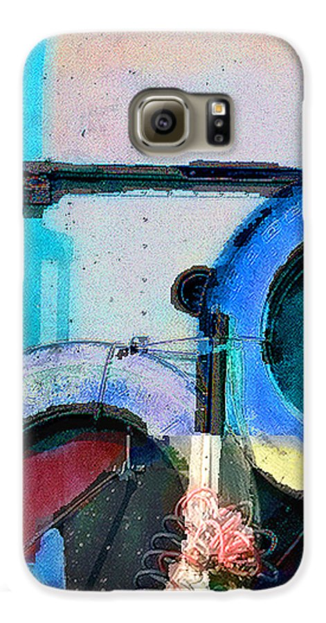 Abstract Galaxy S6 Case featuring the photograph panel three from Centrifuge by Steve Karol