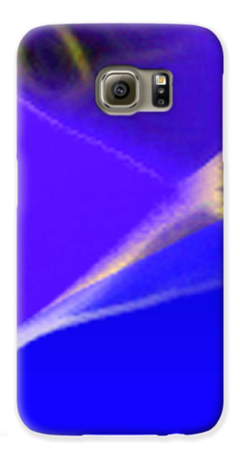 Abstract Galaxy S6 Case featuring the digital art panel three from Movement in Blue by Steve Karol