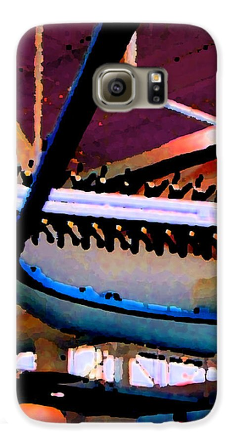 Abstract Galaxy S6 Case featuring the photograph Panel Three From Star Factory by Steve Karol