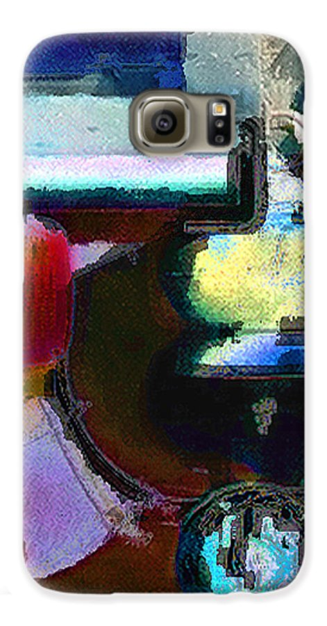 Abstract Galaxy S6 Case featuring the photograph panel two from Centrifuge by Steve Karol