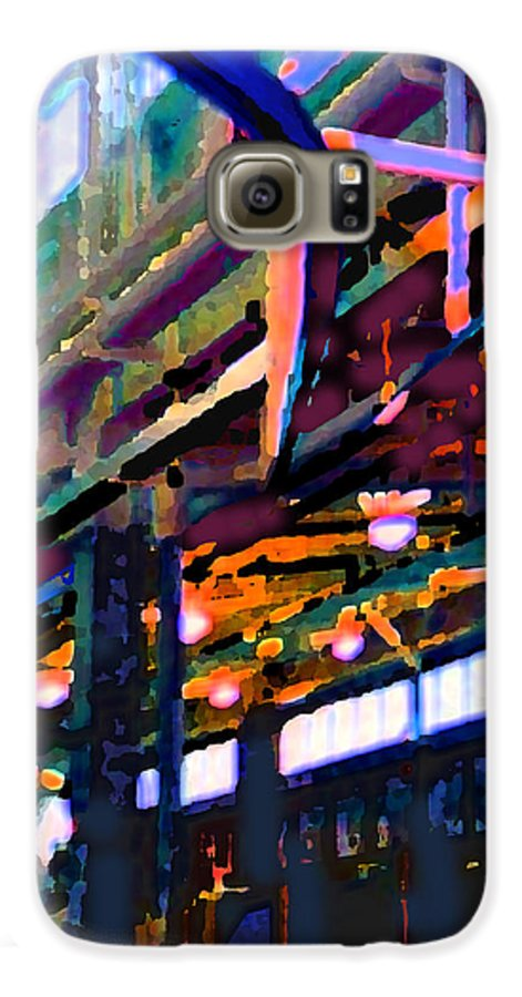 Abstract Galaxy S6 Case featuring the photograph panel two from Star Factory by Steve Karol