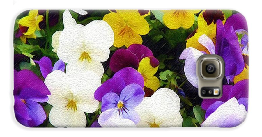 Pansies Galaxy S6 Case featuring the photograph Pansies by Sandy MacGowan