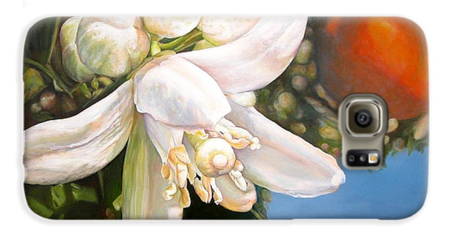 Floral Painting Galaxy S6 Case featuring the painting Parfum D by Muriel Dolemieux