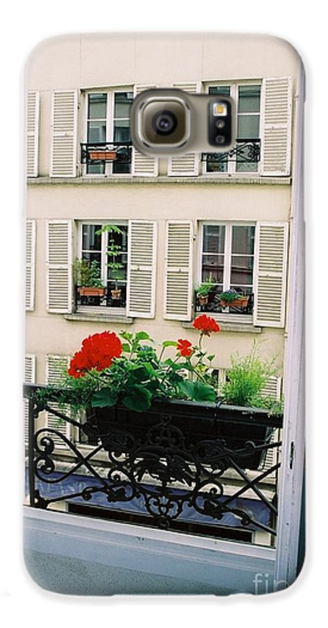 Window Galaxy S6 Case featuring the photograph Paris Day Windowbox by Nadine Rippelmeyer