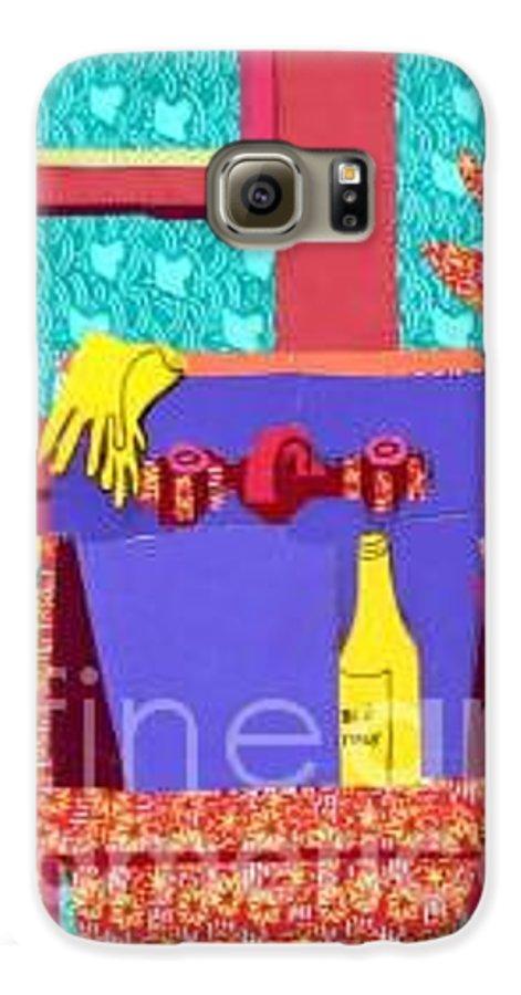 Kitchen Sink Galaxy S6 Case featuring the mixed media Parish Kitchen by Debra Bretton Robinson