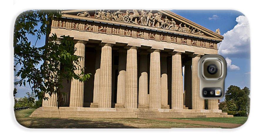 Parthenon Galaxy S6 Case featuring the photograph Parthenon Nashville Tennessee by Douglas Barnett