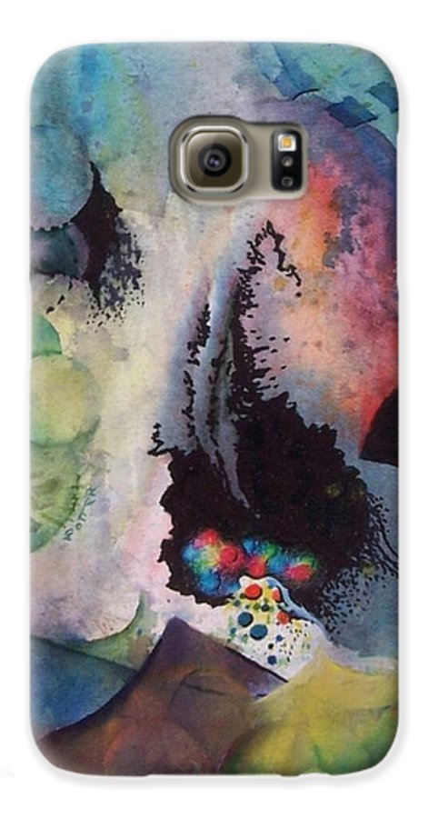 Abstract Galaxy S6 Case featuring the painting Passage Of Time by Virginia Potter