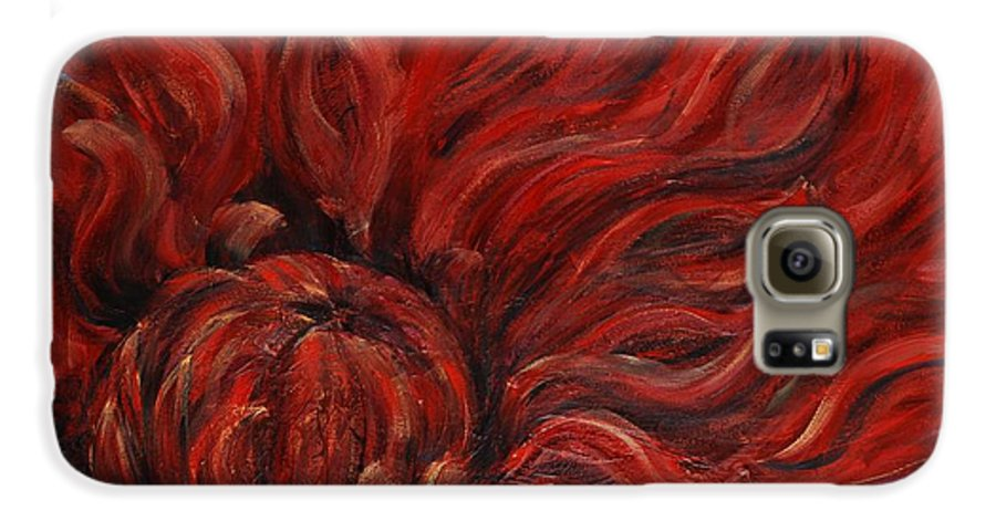 Flower Galaxy S6 Case featuring the painting Passion Iv by Nadine Rippelmeyer
