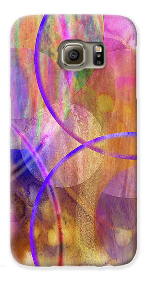 Pastel Planets Galaxy S6 Case featuring the digital art Pastel Planets by John Beck