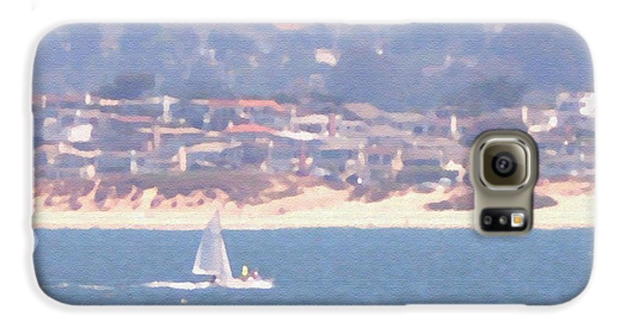 Sailing Galaxy S6 Case featuring the photograph Pastel Sail by Pharris Art