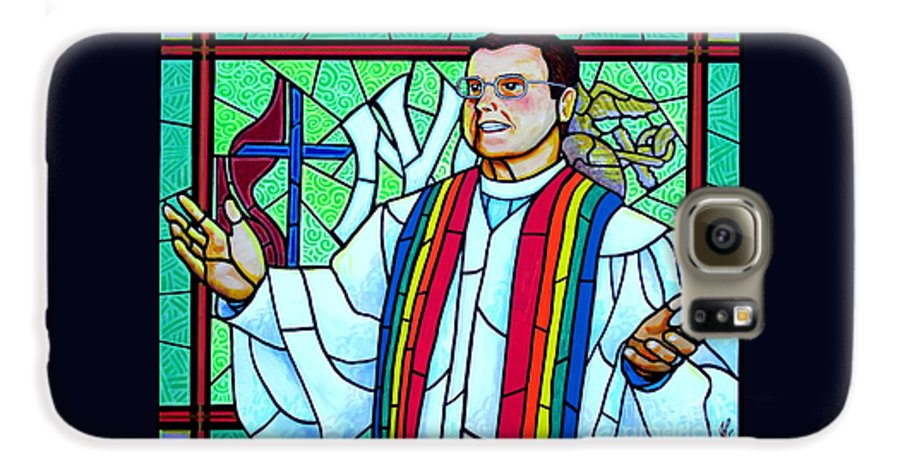 Pastor Galaxy S6 Case featuring the painting Pastor Charlie by Jim Harris