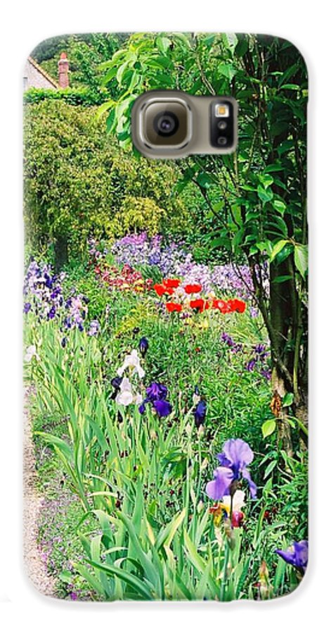 Claude Monet Galaxy S6 Case featuring the photograph Path To Monet's House by Nadine Rippelmeyer