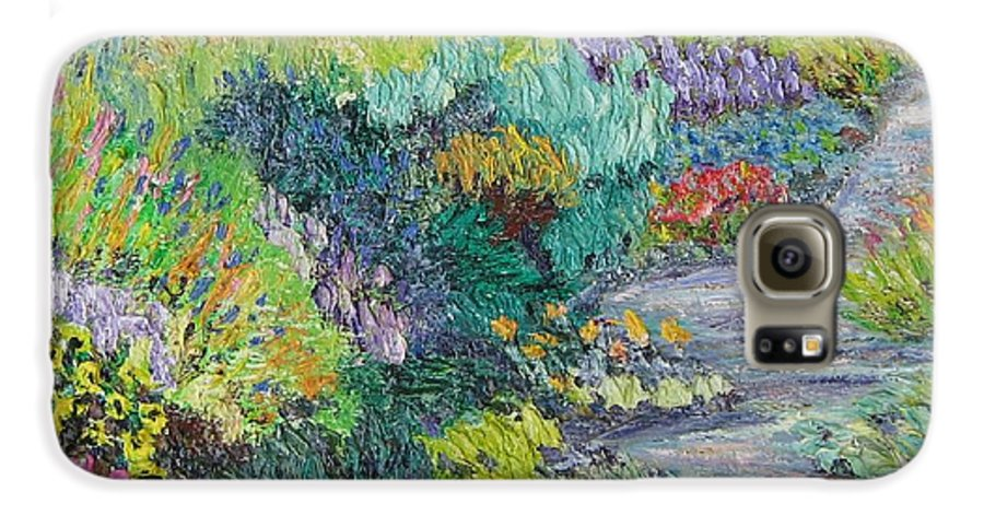 Flowers Galaxy S6 Case featuring the painting Pathway Of Flowers by Richard Nowak
